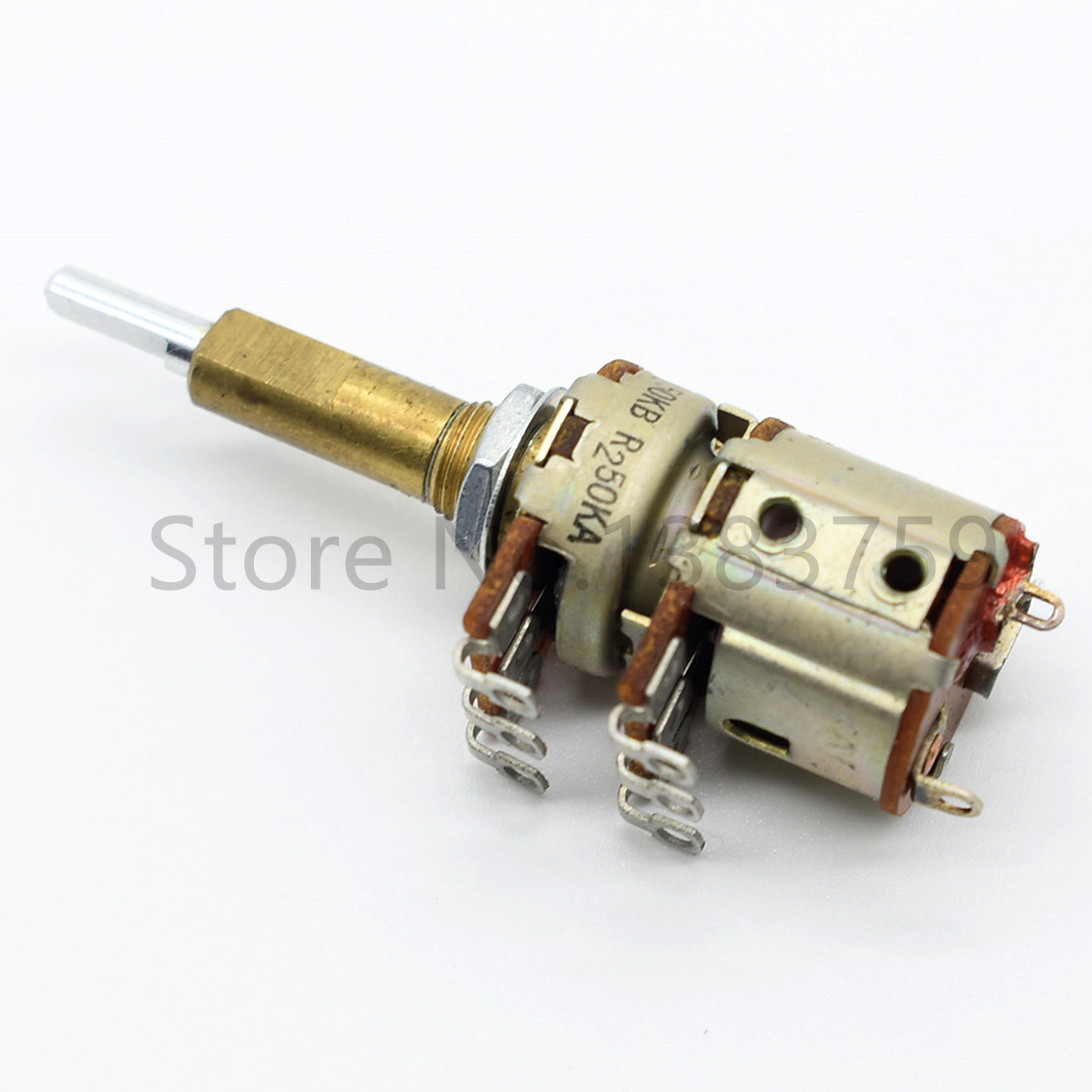 Двойной потенциометр с переключателем A50K и B50K, 16 типов, длина вала 30 мм