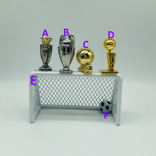 Trophy Basketball-Doll Soccer-Table League Collectible Gift Mini Metal 3-5cm Goal Height-Alloy