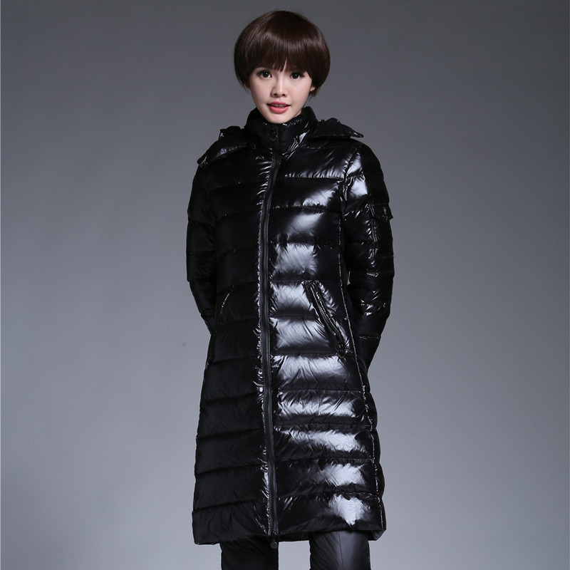 Women's Winter Down Jackets Long Coat Duck Down Jacket Woman Hooded Thick Warm Puffer Jacket Invierno Mujer 2020 KJ2662