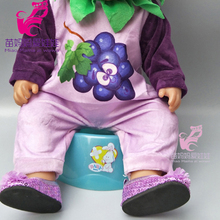 43cm Baby doll clothes cartoon grape wearing for 18 inch  baby dolls suit with hat girls