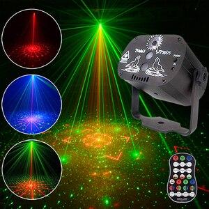 Image 1 - 60 דפוסים מיני מקורה DJ LED אפקט לייזר שלב אור שלט רחוק אפקט אור עבור עסקים תאורת KTV בר המפלגה מנורה