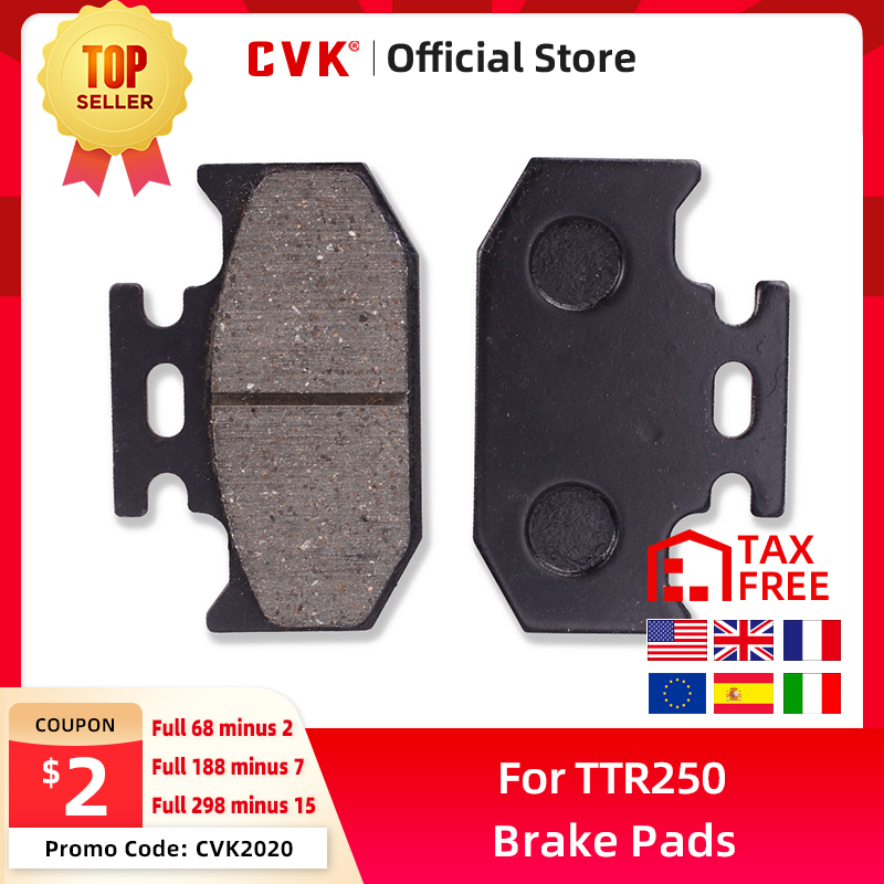 CVK качественные задние тормозные колодки диски обувь для Kawasaki KDX125 KDX200 KDX250 KLX250 Suzuki DR250 DR350 YAMAHA DT125 TTR250 Новинка
