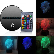 Suitable for indoor desk bedside lamp gift 7 color 3D LED night light touch lighting portable