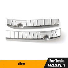 Suitable For Tesla Model Y 2020 2021 Rear Guard Plate Trunk Protection Plate Scratch resistant rear trim Accessories
