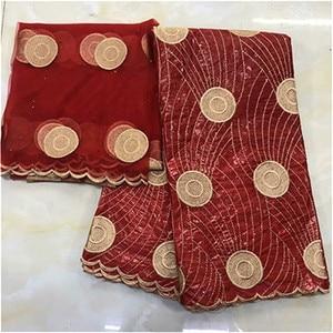 Image 5 - bazin riche brocade 2019 new design bazin riche fabric tissu african bazin lace with embroidery and stones guinea brocade fabric