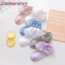BalleenShiny 1pair Mesh Baby Socks Korean Children's Lace Socks Cotton Spring and Summer