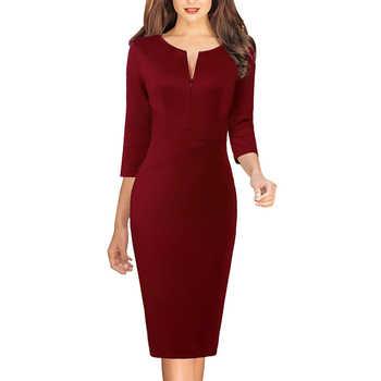 Vfemage Dresses Dark Red
