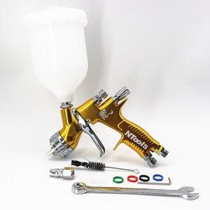 Image 3 - Hohe Qualität Spray Gun GTI Pro Malerei Gun TE20/T110 1.3/1,8mm Düse Farbe Gun Wasser Basierend luft Spritzpistole Airbrush