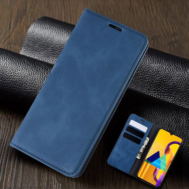 Кожаный флип чехол для Samsung Galaxy A50 A30 A20 A01 NOTE 10 Plus M30S A50S A30S A20S A10e A20e Магнитный чехол бумажник с откидной крышкой|Чехлы-книжки|   | АлиЭкспресс
