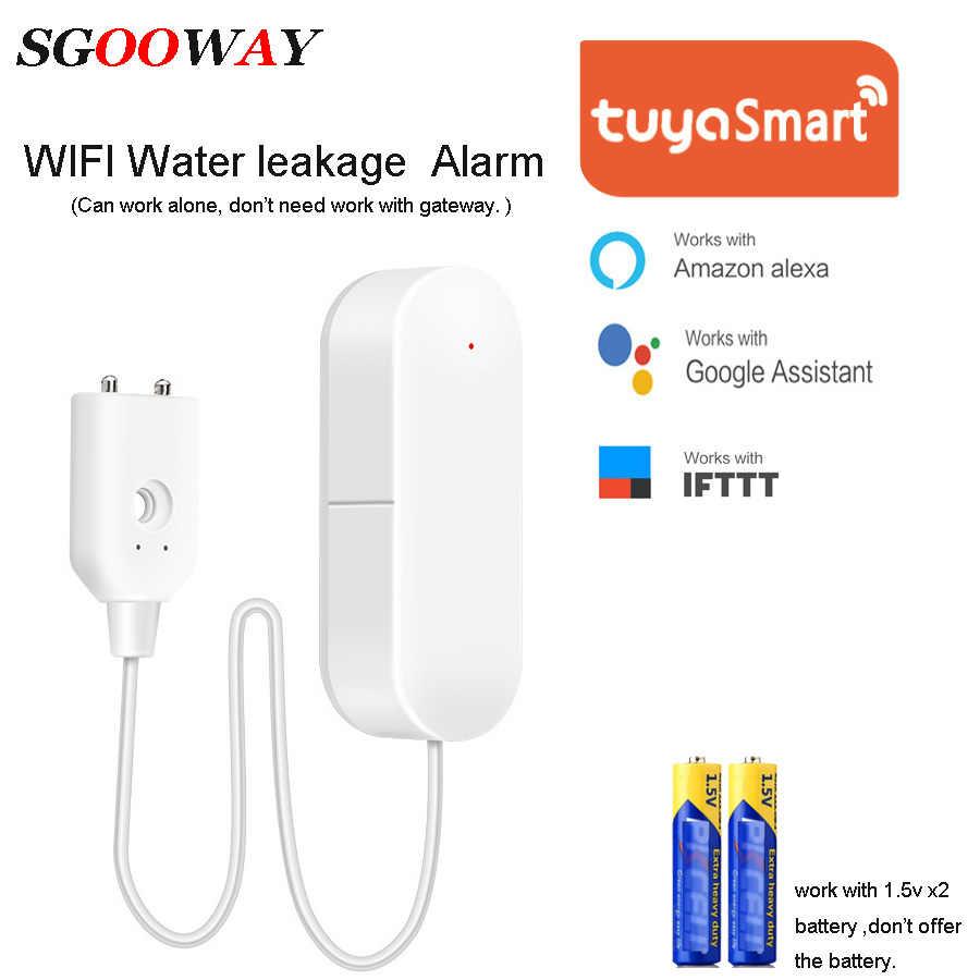 Sgooway チュウヤスマート無線 Lan 制御漏水センサー検知器警報 Alexa Google ホーム IFTTT と互換性