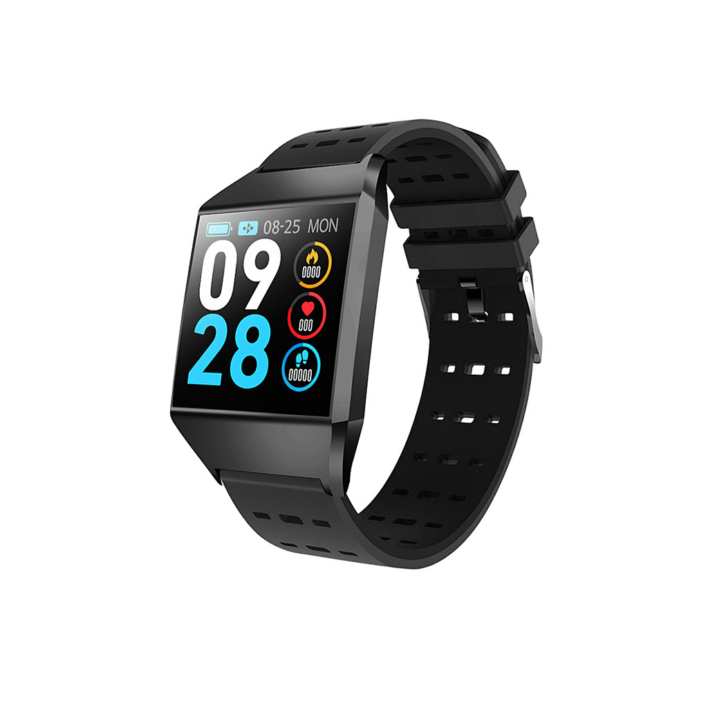 <font><b>IP</b></font> <font><b>68</b></font> Waterproof Smart Watch Heart Rate Tracker Blood Pressure App information display phone number Smartwatch Clock image