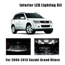 12 светодиодных ламп для внутреннего освещения, Комплект Ксеноновых белых ламп для 2006-2011 2012 2013 Suzuki Grand Vitara Map, купольная лампа для багажника, н...