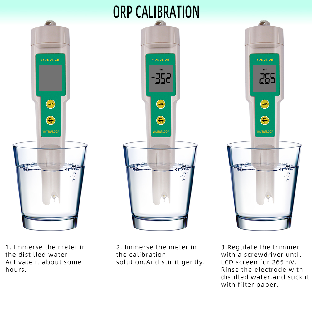 169E ORP/Redox Tester waterproof ORP meter Water Quality Monitor Pen Tester 31% off