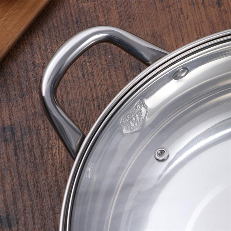 Многофункциональные двойные кастрюли из нержавеющей стали с антипригарным покрытием со стеклянной крышкой
