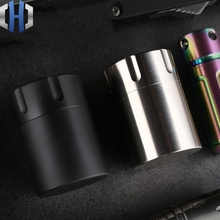 CNC Pure Titanium Waterproof Warehouse Black Sealed Tank Alloy High-end Portable Medicine Box Outdoor Survival Supplies