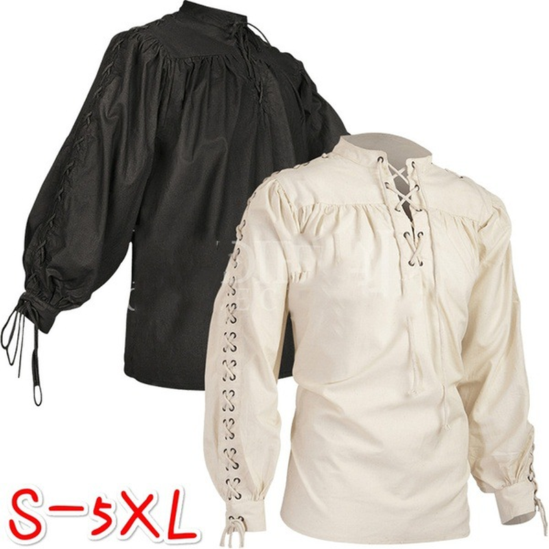 Medieval Men/'s Tunic White for Adult Viking Roman Soldier Peasant