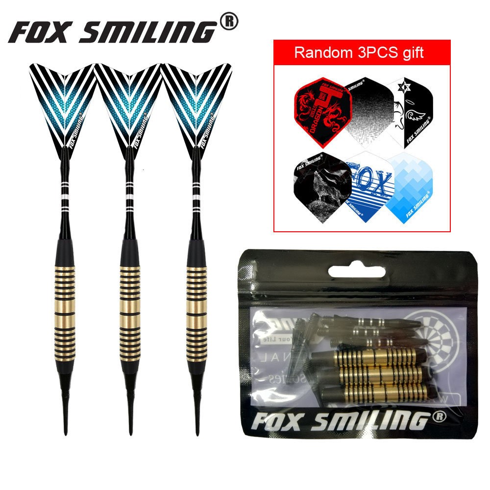 Fox Smiling 3PCS 18g Professional Soft Tip Electric Darts With Aluminum Shaft Only Today Get Free Flights As Gift
