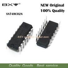 10 pces 74hc02n dip14 74hc02 dip sn74hc02n dip-14 ic original novo