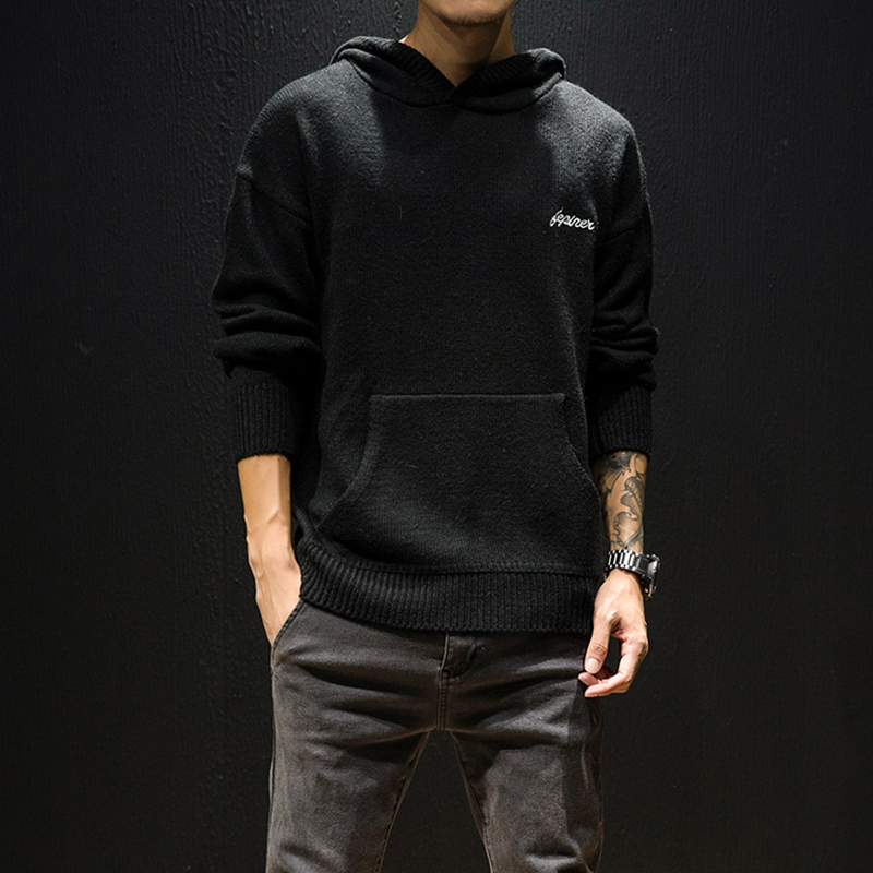Men's Sweatshirt 2019 Autumn And Winter New Loose Solid Color Hooded Pullover Young People Personality Fashion Trend Men's Wear