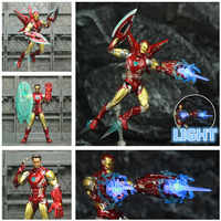 "Marvel 2019 Avengers 4 Endgame Iron Man MK85 6 ""repeint figurine personnalisée Ironman Mark 85 KO's SHF Tony Stark légendes jouets"