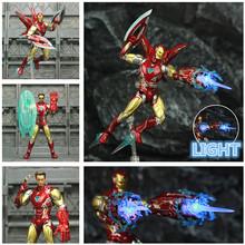 Marvel Avenger 4 Endgame Iron Man MK85 MK85 6 odmalowana niestandardowa figurka Ironman Mark 85 50 KO SHF Tony Stark Legends zabawki tanie tanio JAXTOY Model Żołnierz gotowy produkt Wyroby gotowe Unisex 1 12 Zachodnia animiation Zapas rzeczy Film i telewizja