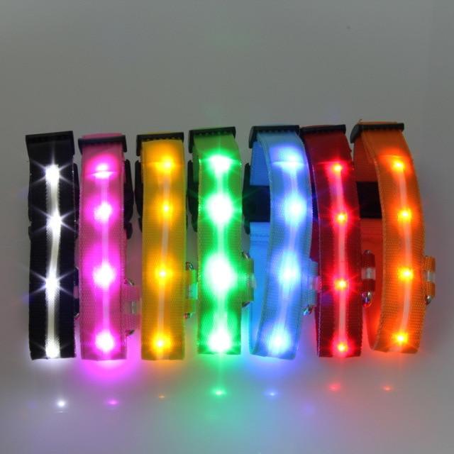 Glowing Pendant LED Night Safety Dog Collar 3