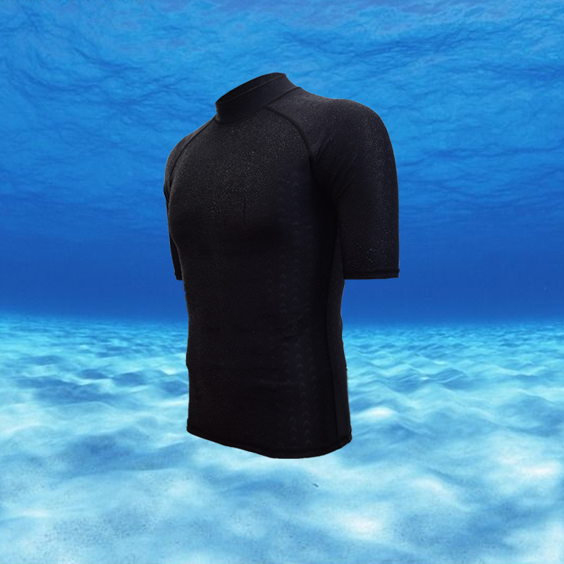 Global New Style Waterproof Quick-Drying Faux Sharkskin Half Sleeve Sun Protection Clothing Diving Swimming Suit Snorkeling Surf
