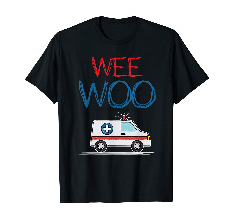 Wee Woo Ambulance Amr Funny Ems Emt Paramedic Gift Shirt(China)