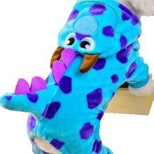 Мультяшный Дракончик из пузырьков, превращающийся в собачку, Четырехугольная одежда для домашних животных, осенняя и зимняя утепленная бархатная одежда, 5 размеров
