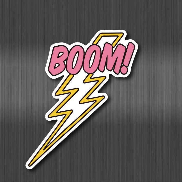 Boom Blitz Cartoon Aufkleber Nette Rosa DIY Wasserdicht für Koffer Laptop Gitarre Gepäck Skateboard Spielzeug Schöne kinder Aufkleber