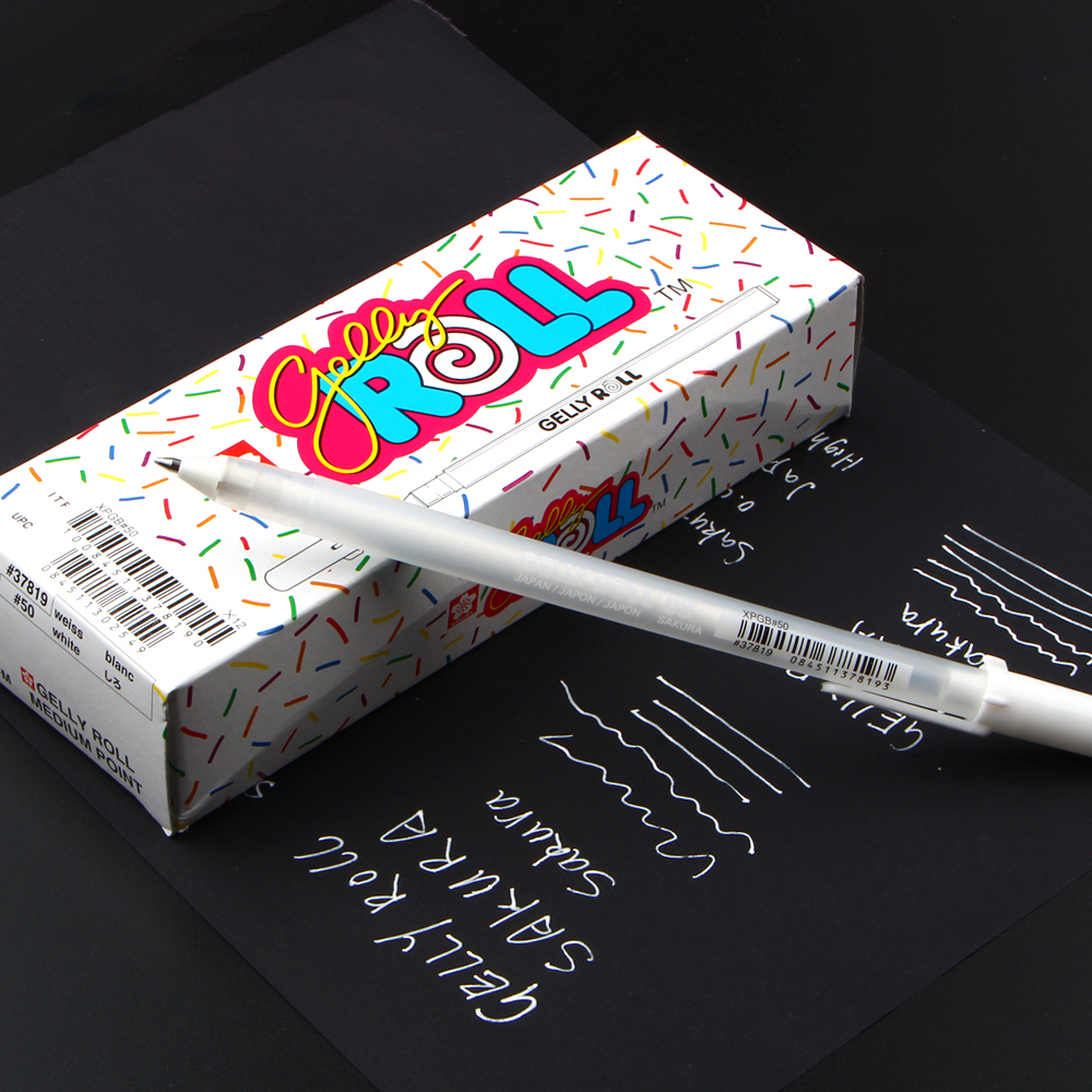 Free Shipping Japan Imported Jelly Roll 0.8mm White Gel Pen Highlight Liner For Art Marker Design Comic/manga Painting Supplies
