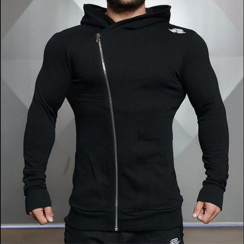 Mens Sports Hooded Jacket Long Sleeves  Autumn Winter Sweater Gym Basketball Trainning Musclebuild Hoodie Sportswear