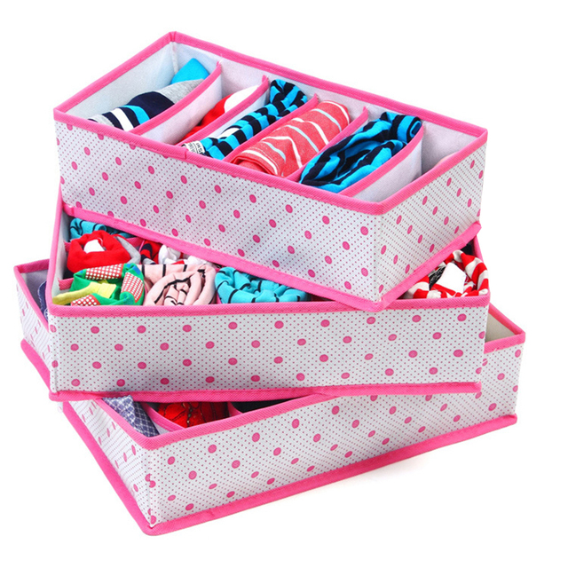 Foldable organizer for women's underwear