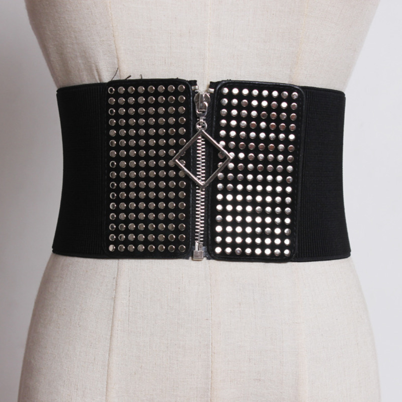New Design Belts For Women Stylish Trendy Waistband Fashion Belt 2020 All-match Elastic Wide Belt Female Solid Corset Belt ZK463