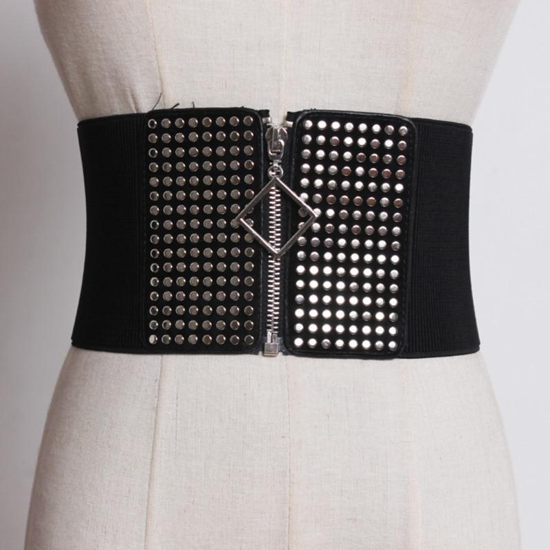 New Design Belts For Women Stylish Trendy Waistband Fashion Belt 2020 All-match Elastic Wide Belt Female Solid Corset Belt ZK463