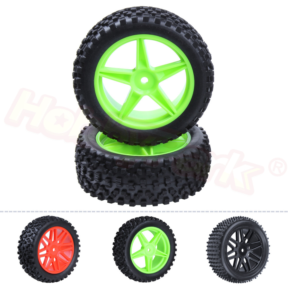 2Pcs 88MM Rubber RC 1 10 Buggy Rear Wheels Tires Hex 12mm Width 41mm For Remote