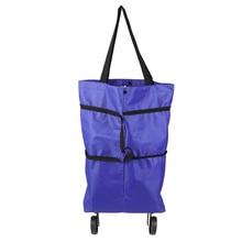 Cart Trolley Collapsible Vegetables-Organizer Portable Fashion Tug-Bag Car-Luggage Folded