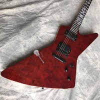 Custom shop custom electric guitar, wine red, rosewood top covered, black hardware, can be customized logo, free shipping.
