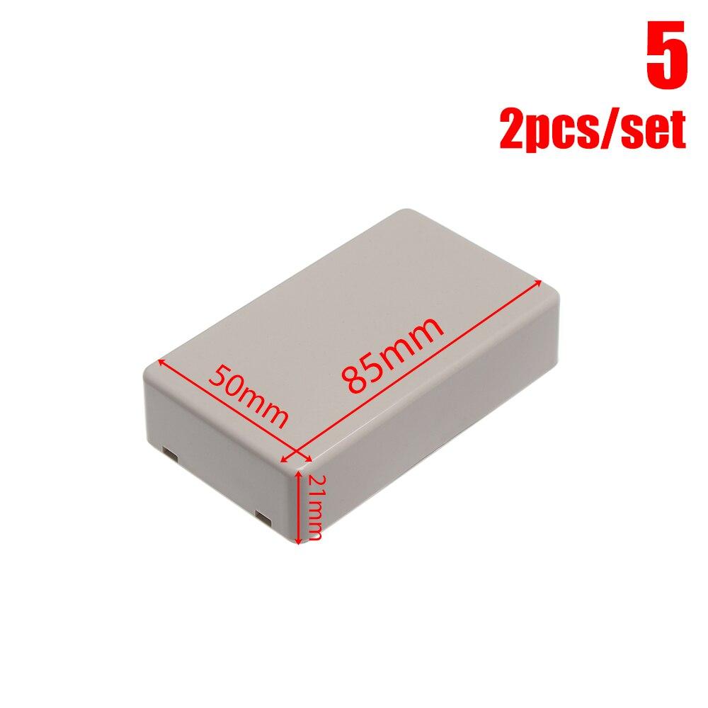 2 шт Водонепроницаемый белый/серый корпус DIY корпус прибора пластиковая коробка для АБС проект коробка ящик для хранения корпус коробки поставки - Цвет: 2pcs Style 5