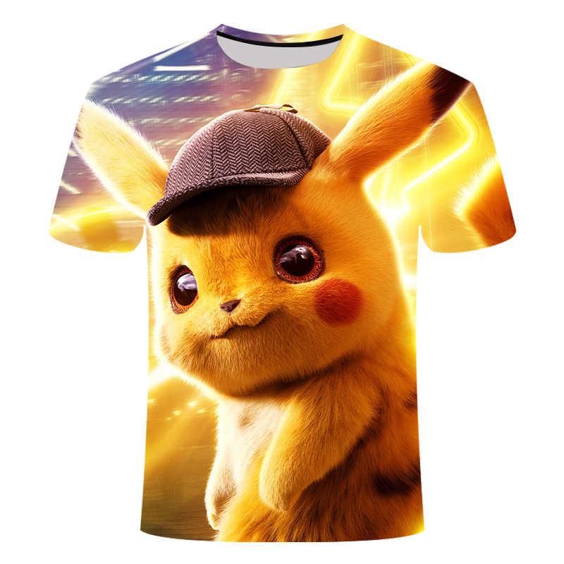 3D Film Detektiv Pokemon Pikachu T-shirt Für Männer Frauen T-shirts Mode Sommer Casual Tees Anime Cartoon Kleidung Nette Kostüm