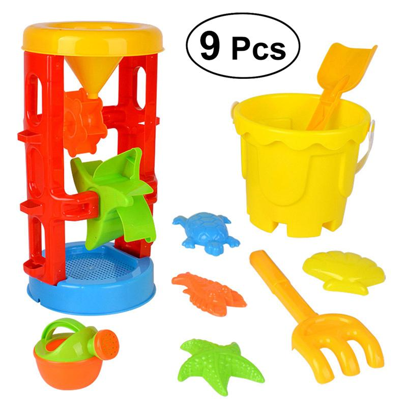 9PCS Large Children Kids Beach Sand Toys Set Funny Beach Game Playset Sandbox Toys