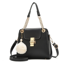 Crossbody Bags for Women Pompon 2019 New Fashion Chain Shoulder Bag Korean Version of The Wild Lock Messenger Bag 2017 new women bag beautiful women version of the purse fashion bags