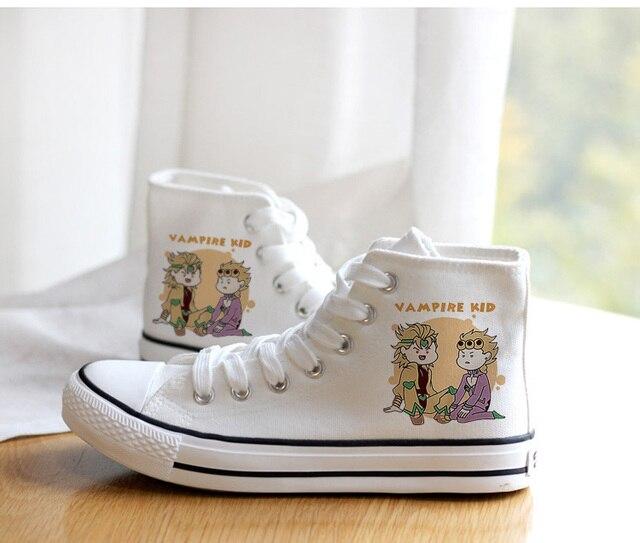 Unisex Anime Cosplay VENTO AUREO Goldenwind Canvas Shoes plimsolls Duck Shoes