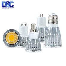 Светодиодный лампы e27 e14 mr16 gu53 gu10 cob Точечный светильник