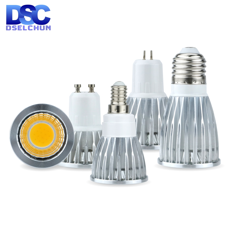 LED Bulb E27 E14 MR16 GU5.3 GU10 COB Spotlight 3W 5W 7W 10W Lampada Led Light 110V 220V Bombillas LED Lamp 85-265V Spot Light