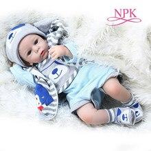 50 Cm Bebe Levensechte Pop Reborn Baby Boy Doll Realistische Silicone Soft Touch Schattige Real Pasgeboren Baby Grootte Snoezige Baby weighte