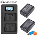 Palo NP-FW50 NP FW50 Camera Battery +LCD digital camera battery Charger for Sony Alpha a6500 a6300 a6000 a5000 a3000 NEX-3 a7R