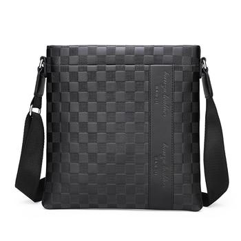 hot-fashion-shoulder-messenger-bags-mens-casual-plaid-bag-business-briefcase-korean-style-shoulder-bag-free-shipping