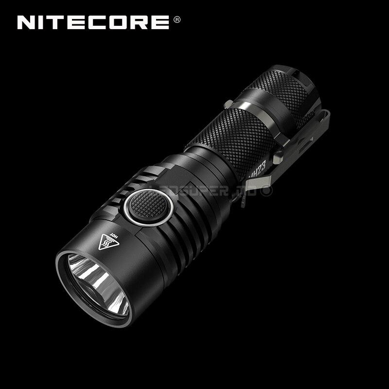 Luz de búsqueda de bolsillo Nitecore MH23 CREE XHP35 HD LED Micro USB recargable linterna de 1800 lúmenes