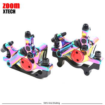 ZOOM XTECH Colorful Disc Brake Front/Rear Hydraulic Disc Brake For MTB Bicycle And MIJIA M365 Mi Electric Scooter front disc